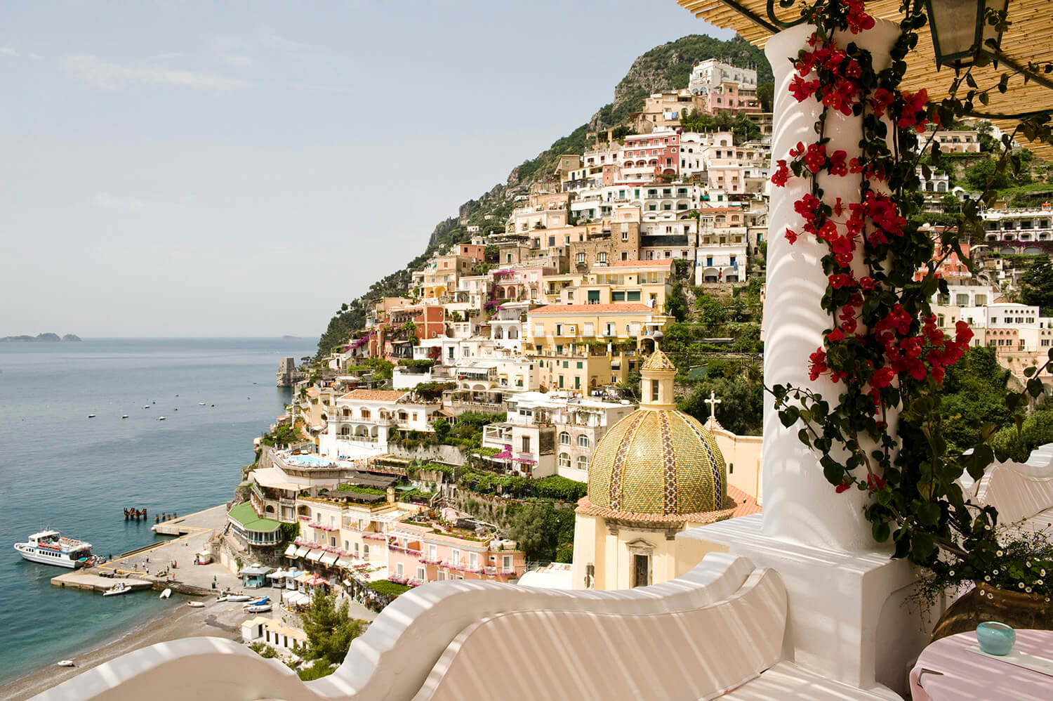 Panoramic view from the terrace of Albergo Le Sirenuse - Positano