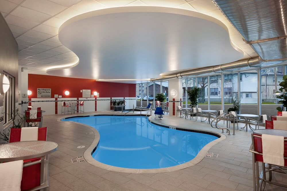 Our warm indoor pool is just one of the great amenities you will find at the Hampton Inn & Suites Madison Downtown.